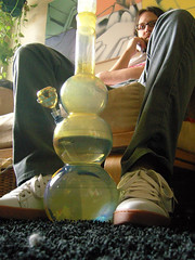 erratik_ has added a photo to the pool:This is our 3.5' bong. It's the size of a small child, so that's what we call it.Too bad about my cat's hairball.