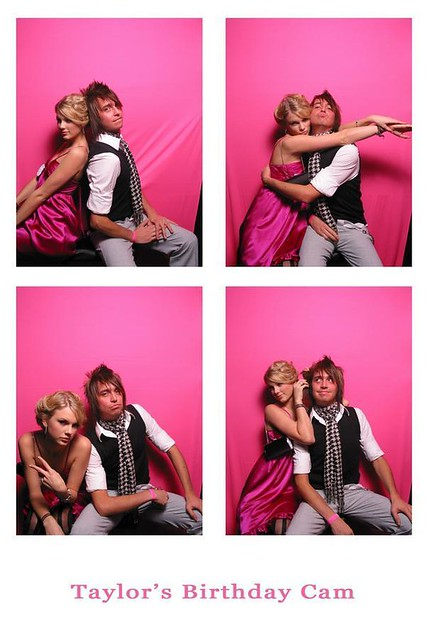 Taylor Swift and her guitarist, Grant, on Taylors 18th birthday :)