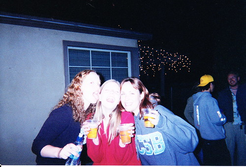 With Lauren and Jen, 2001?