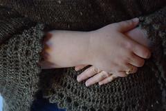 Pi Shawl (fiberartsfanatic) Tags: wool circle handmade lace knit pins shawl knitted fleece shetland circular handspun pinned edging zimmermann elizabethzimmermann pishawl