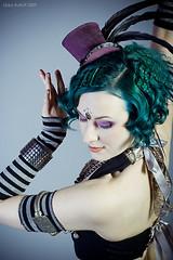 Punky Lo (exoskeletoncabaret) Tags: studio antique stripes gothic lolita tophat bellydance crimped vintagepunk mollymitchell libbybulloff deshret lindseywatkins