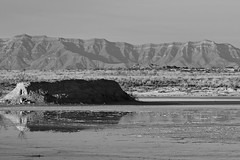 Horizons (pearmon) Tags: mountains newmexico reflection water landscape sand shadows desert whitesandsnationalmonument pfogold pfosilver