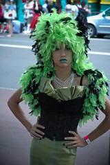 Attitude (Halans) Tags: gay portrait people green sydney feathers australia mg attitude mardigras 2009 downunder gmg gaymardigras sydneyhydepark sglmg nationsunited sydneygayandlesbianmardigras2009 sglmg09 gmg09 mg09