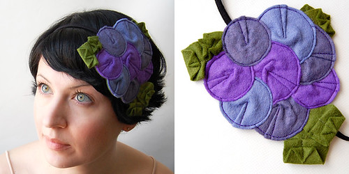 Rosette Fascinator // The Peacock