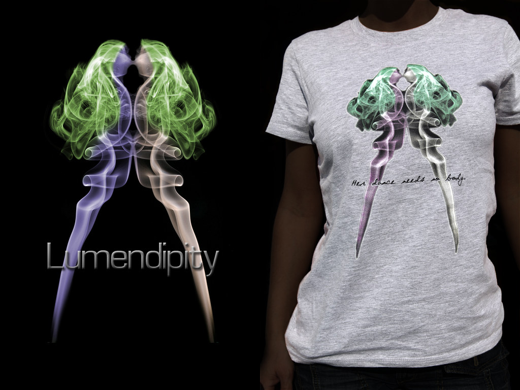 T-shirt with my smoke picture 'Gemini'