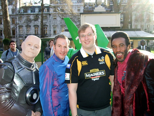 Me with the crew of Red Dwarf