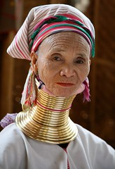 Padaung Elder (White Pelican) Tags: travel portrait woman neck thailand necklace mujer women long village burma hill tribal karen longneck myanmar bodymod giraffe tribe brass burmese mujeres bodymodification femmes hilltribes hilltribe longnecktribe karentribe girafes longnecks padaung jirafa kayan longnecked longneckkaren mujeresjirafa longneckwoman aplusphoto estremit longneckedkaren earthasia femmesgirafes artofimages kayanlahwi bestportraitsaoi