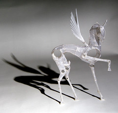Paper and Wire Sculpture: Pegasus