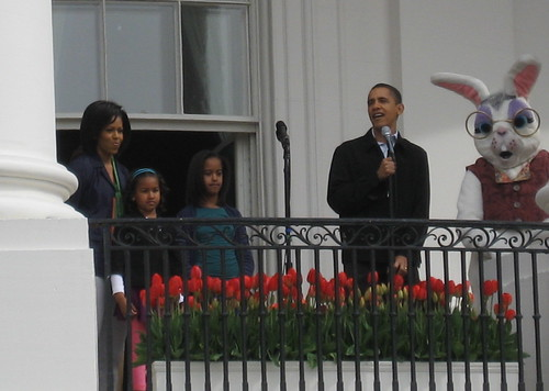 The Obamas and the Easter Bunny