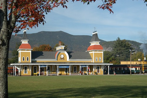 Our 1874 Victorian station in North Conway Village
