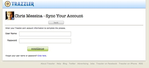 Trazzler - Sync Confirm Existing User