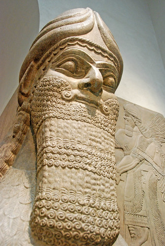 Human-headed winged bull and winged lion (lamassu) | Flickr ...