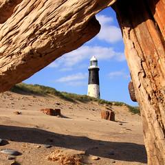 Spurn lighthouse (47mki) Tags: wood lighthouse abandoned beach seashore groynes spurnpoint yorkshirecoast eastyorkscoast
