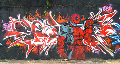 deadpool (seazk) Tags: street 6 art mouse graffiti no taiwan freaky crew taichung piece  virus 2009  no6  deadpool seazk