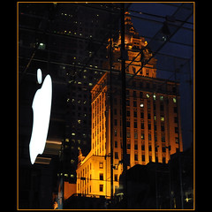 apple, big apple (Dreamer7112) Tags: nyc newyorkcity ny newyork apple window glass architecture night facade logo nikon manhattan 5thavenue facades applestore illuminated midtown explore cube fifthavenue centralparksouth brand bigapple iny applecube d300 novaiorque glasscube appleglasscube nikond300  clipcook