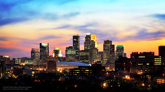 Minneapolis Skyline (jpnuwat) Tags: city longexposure sky usa minnesota skyline twilight downtown dusk prospectpark minneapolis cropped 2470mm leagueofawesomeness dsc6136