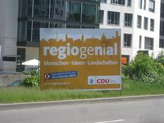 CDU hlt sich fr regiogenial (Henning (HenSch)) Tags: politik stuttgart cdu 2009 wahlkampf wahlplakate kommunalwahl regionstuttgart regionalwahl regiogenial