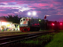 CC201-71 Locomotive @ Bumiayu Station (chris railway) Tags: station train indonesia tren eisenbahn railway zug locomotive purwokerto bahn ka spoor locomotora maos dipo treinen ferrocarril ferrovia gleis treni spoorweg makina  locomotiva ferroviaria   chemindefer  locomotief ketel pocig       lokomotywa tegal   demiryolu locomotore keretaapi  bumiayu trainphotography  ngst   tuho     oto cc20171 dipotraksi   umayxela sidulich  eisenbahnzgen   kolejowych ferrovipathe ferrovira fotografiaferrovira
