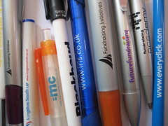 Fundraising companies' promotional pens