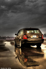 The Range Rover (Talal Al-Mtn) Tags: auto city black sc car rain clouds photoshop cool flickr day rainyday shot rr rover super best rainy automatic land motor kuwait landrover range rangerover rangeroversport hdr v8 talal 2007 supercharged q8 charged hst the hse rrs kwt rangesport almtn talalalmtn therangerover
