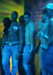 ChicosVegas 052 (danimaniacs) Tags: gay shirtless man hot sexy male guy pecs bar club nipple lasvegas bare chest pride jeans denim navel abs sixpack krave