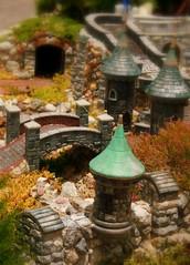 Welcome to the Mini-Kingdom (enovember) Tags: bridge castle miniature stones tunnel drawbridge turret