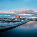 Shoal Tower at sunset — HDR panorama (enfuse version)