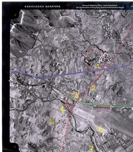 一九六三石崗航空照片﹝加了紅線﹞
