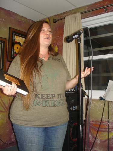 Amber Morgaine, reading poetry