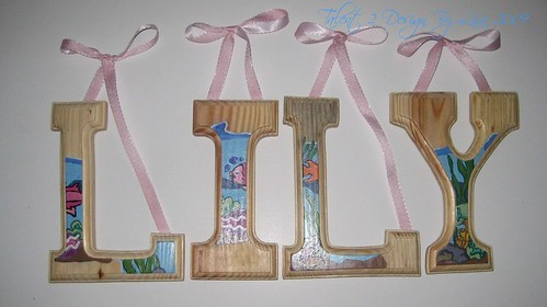 "LILY 6"" Custom Hand Painted Alphabet Letters"