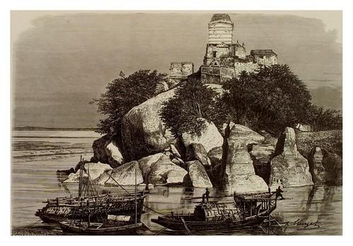 020-Rocas de granito en el Ganges en Sultangrandsch-La India en palabras e imágenes 1880-1881- © Universitätsbibliothek Heidelberg