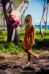 as she floats (SARA LEE) Tags: girls landscape hawaii early day dress photoshoot windy valley bigisland ashleys nymph camerons waipio waipiovalley honokaa sarahlee legothenego vivantvie