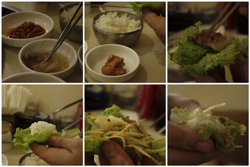 how to eat samgyeopsal/samgyupsal