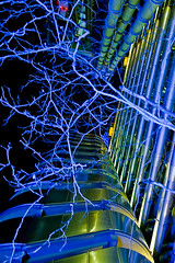Lloyds London (daryl_mulvihill) Tags: blue light building tree london tower delete10 architecture canon delete9 delete5 350d delete2 delete6 delete7 © bank delete8 delete3 delete delete4 daryl richard scifi organic rogers dslr insurance hitech save1 lloyds mulvihill dmau 500px alienarchitecture dmaucom ©darylmulvihill