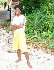 Greeter on the Beach (U Jay) Tags: polynesia solomonislands tikopia polynesianmen polynesiandance menofthesouthpacific polynesianoutliers