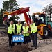 Paul Clark MP opening construction at new Balmoral Gardens NHS Facility