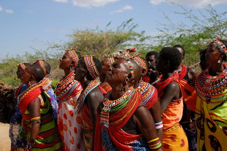 Umoja women sing their greeting to visitors