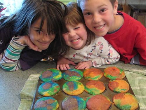 Baked rainbows