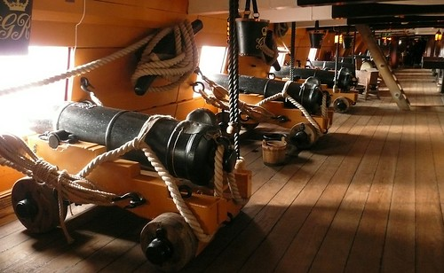 Cannons on HMS Victory