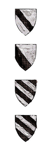 Shields to illustrate Heraldry Post on Blog