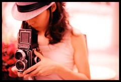 J (Lefty Jor) Tags: light hk tlr film girl hat rolleiflex hair hongkong xpro focus day fuji dof crossprocess slide expired misu taio rtp rolleinar f3hp t64 phtographer 28d tamronsp500mmf8reflex