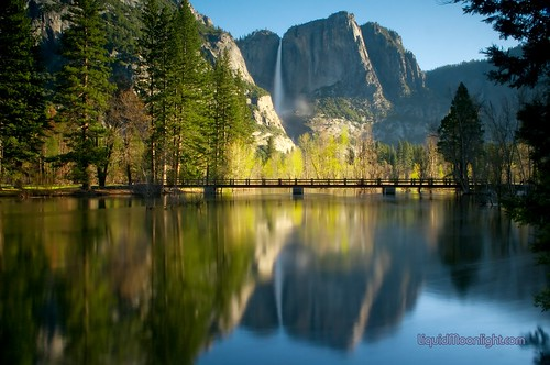 Yosemite Falls & Swinging Bridge - Yosemite National Park California