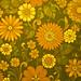 Sixties  Seventies Era Floral Print Wallpaper - Brian Eno Speaker Flowers Sound
