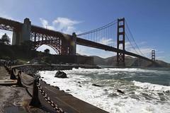 peaceful time (hyfumc) Tags: ocean sanfrancisco california bridge angel canon golden bay nationalpark gate wide wave windy sunny goldengate area pacifica 1635mm