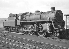BR class 4 2-6-0 no.76088. Saltley Shed. 25 March 1964 (ricsrailpics) Tags: uk bw birmingham steam 1964 260 class4 exbr saltleyshed