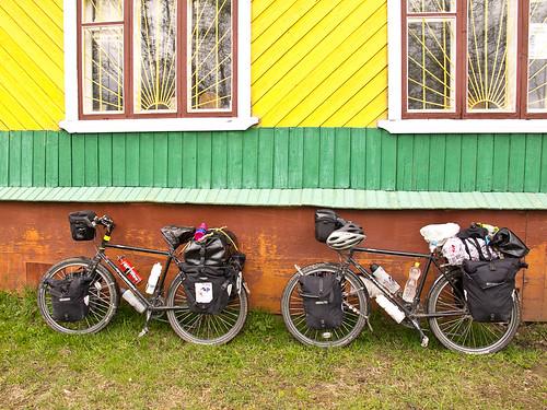 Bikes outside magazin