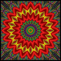 Sending Good Vibrations Your Way (Lyle58) Tags: blue red abstract color green geometric yellow circle design colorful pattern kaleidoscope mandala symmetry zen harmony reflective symmetrical balance circular kscope kaleidoscopic kaleidoscopes kaleidoscopefun kaleidoscopesonly lyle58 amazingeyecatcher struckbyrainbow