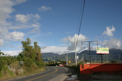 The weather cleared up beatifully just south of Tulcán, Ecuador...