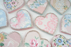 Vintage Wallpaper Hearts (such pretty things) Tags: old flowers decorations roses wallpaper holiday floral glitter vintage hearts heart pastel valentine romantic valentinesday shabbychic