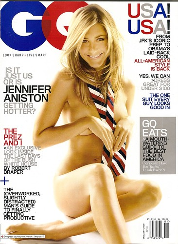 "For fully nude but ever so ""artfully"" covered bodies, take Jennifer Aniston ..."